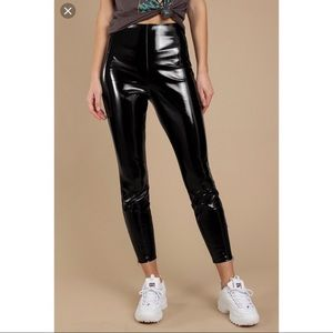 Shiny pleather pants